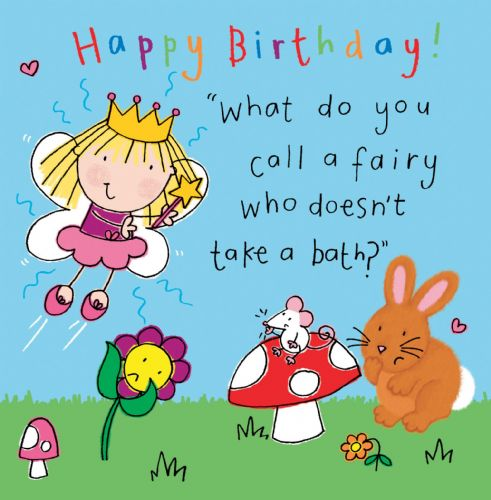 Fairy Funny Joke Birthday Card For Kids TW435